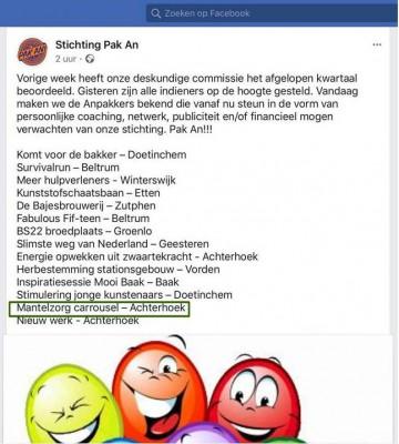 Stichting Pak An helpt ons met Anpakken!